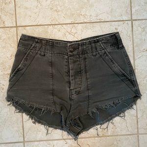 Free People Dark Wash Shorts